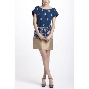 Anthropologie Dresses - Anthropologie Floreat Aztec Bird Embroidery Dress